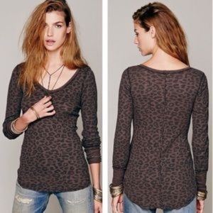 Free People Leopard Printed Desperate thermal